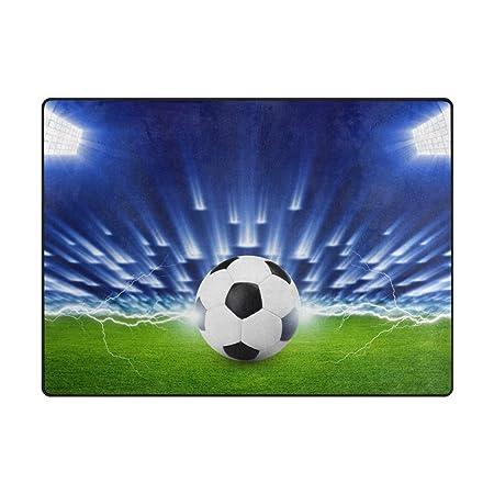 Mnsruu - Alfombra Grande (160 x 122 cm), diseño de balón de fútbol ...