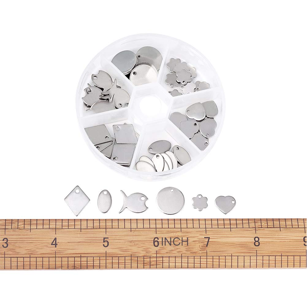 38x16mm Rectangle Unfading Stainless Steel Blank Stamping Tags Charms Pandahall 10pcs 1.49x0.62 Inch