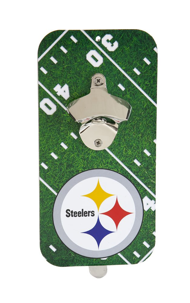 Team Sports America NFL Pittsburgh Steelers Magnet Bottle Opener, Small, Multicolor