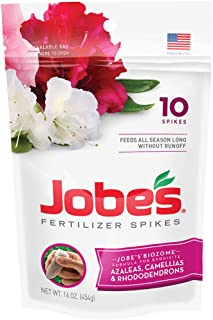 product image for Jobe's Azalea, Camellia & Rhododendron Fertilizer Spikes, 10 Spikes