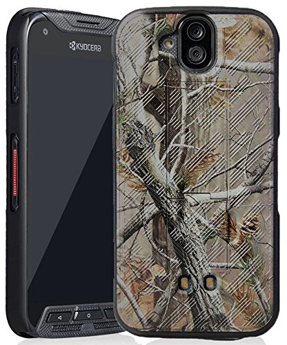 DuraForce Pro Camo Case, Nakedcellphone's [Camouflage] Tree Leaf Real Woods Slim Hard Shell Cover [with Kickstand] for Kyocera Duraforce Pro (E6810, E6820, E6830, E6833, E6800) Camo Cell Phone Accessories