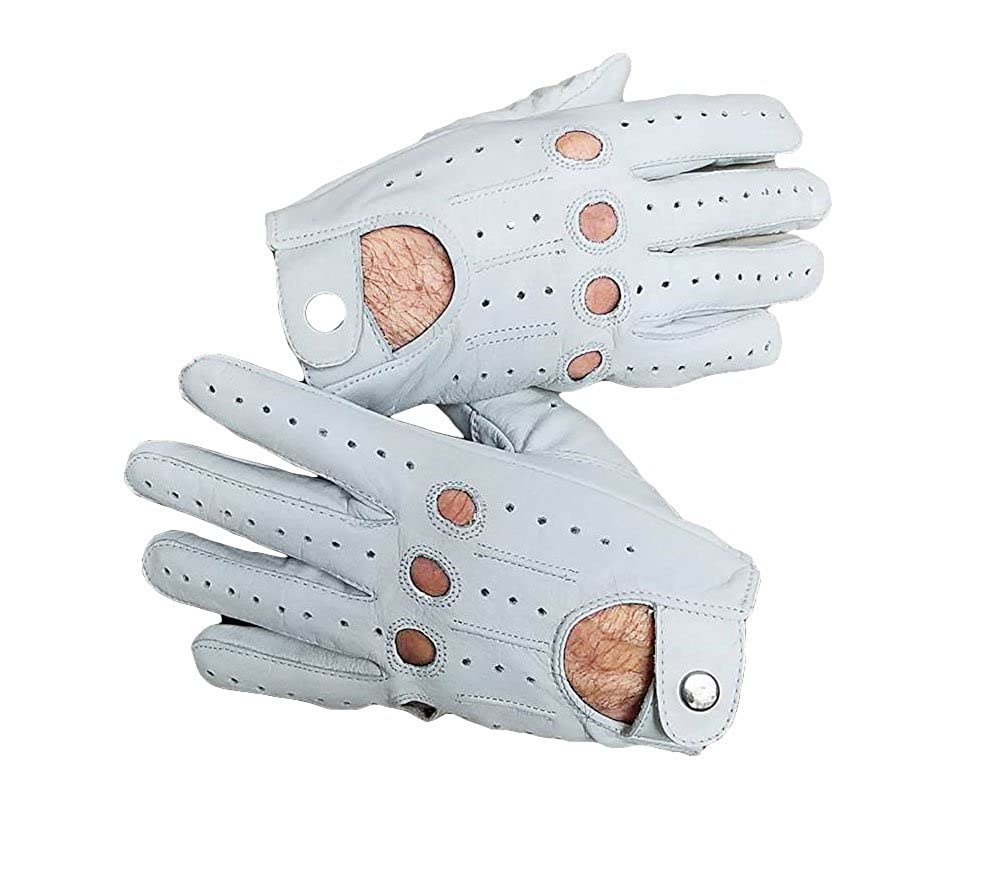 autumn shoes various design on sale White Men's Genuine Leather Driving Gloves