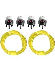HIPA (Pack of 4) Primer Bulb + Fuel Line Husqvarna Trimmer Weedeater 123L 225 232L 227L 240L 322L 323 325 326 Chainsaw 235 236 240 340 345 350 353 440 445 450 460 125B 125BVX 125BVX