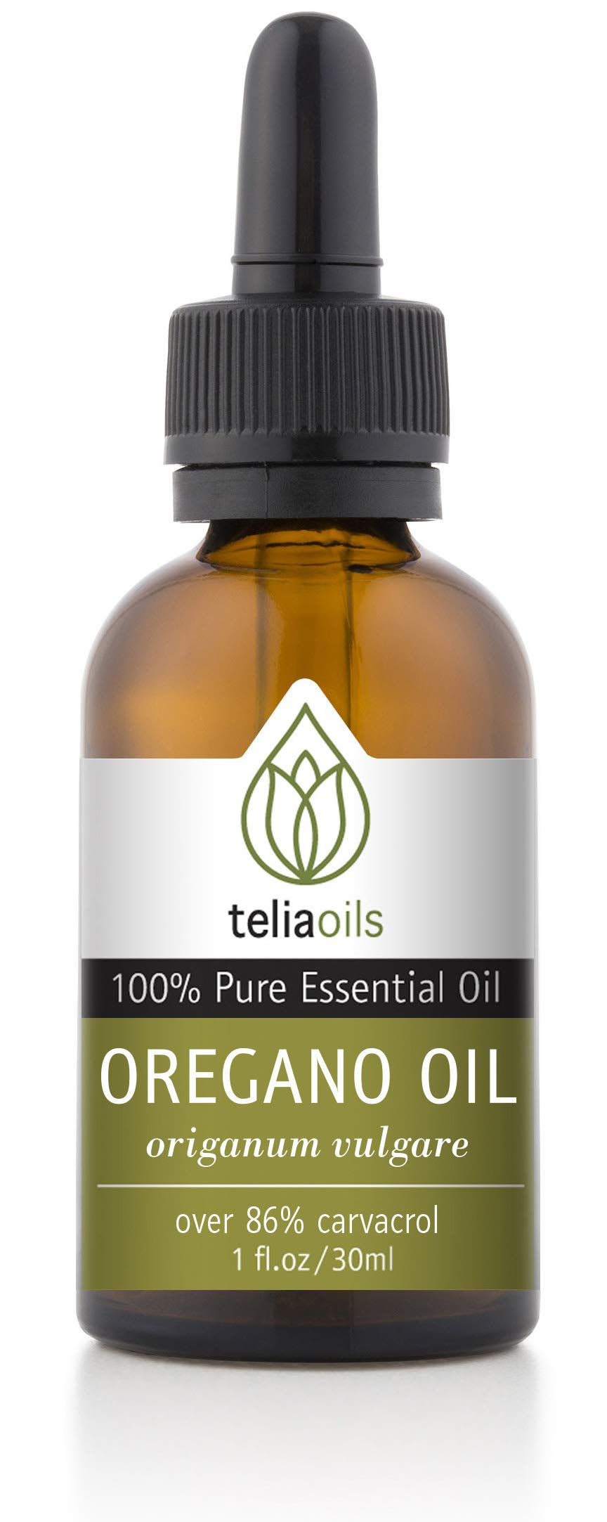 Teliaoils 100% Organic Oil Of Oregano - Super Strength over 86% Carvacrol - Pharmaceutical Grade Wild Oregano Oil from the mountains of Greece - Undiluted, Certified, Pure Oregano Essential Oil - 1 oz