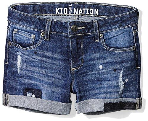 Kid Nation Girls Stretch Denim Roll Cuff Short 12 Sutton