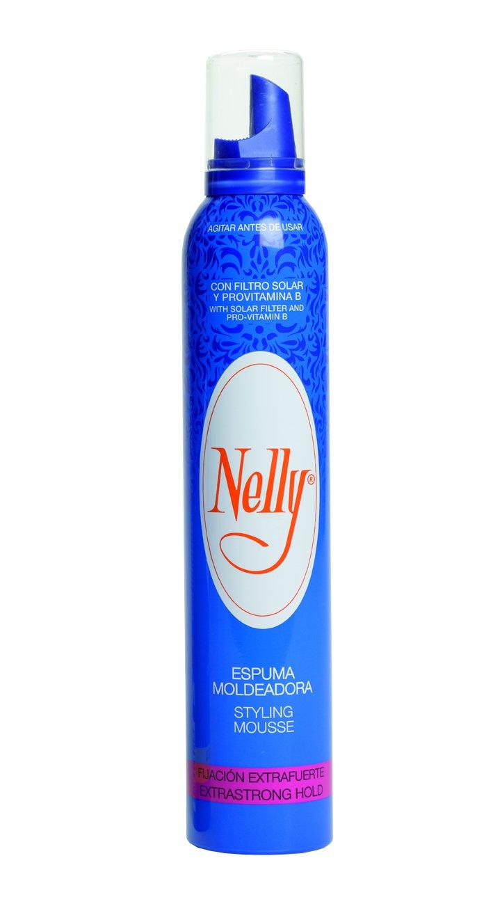 Nelly Espuma Pelo Extrafuerte - 12 Recipientes de 300 ml - Total: 3600 ml 10230001200