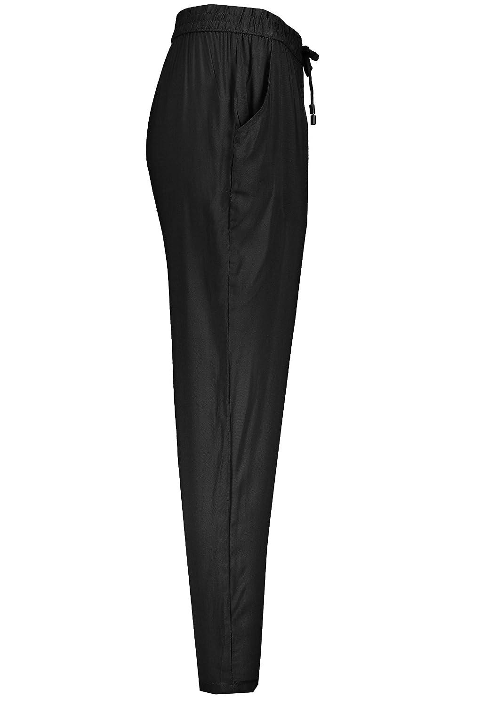 Sublevel Damen Stoffhose mit Bindeg/ürtel aus Viskose