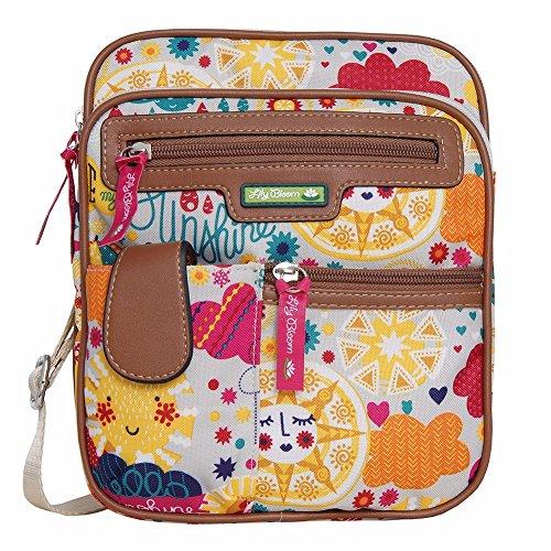 Lily Bloom Gigi Cross Body Messenger Bag (SPRING SHOWERS)
