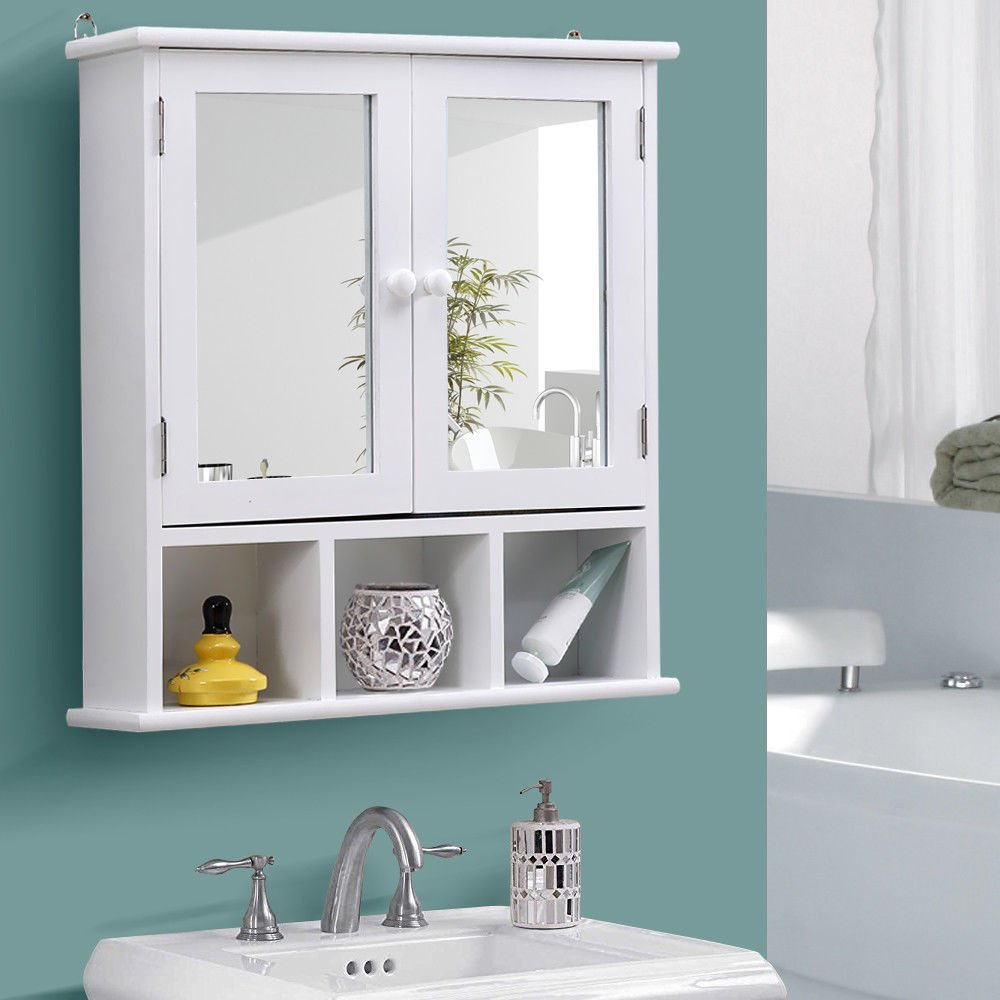 Amazon.com: Bathroom Over The Toilet Storage Cabinet Organizer With ...