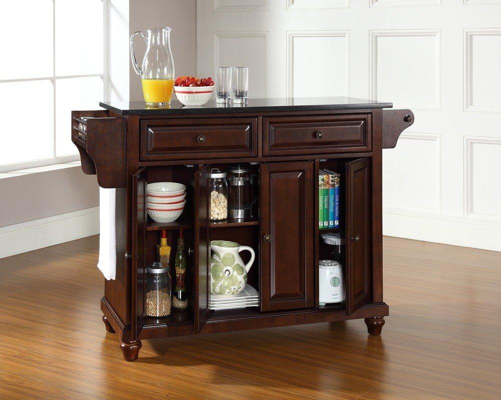 amazon com crosley furniture cambridge kitchen island with