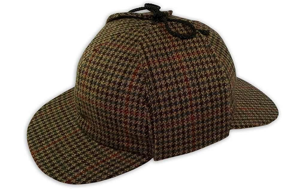 PASQUALE CUTARELLI Mens Wool Tweed Deerstalker Hat (9167) Brown 60cm