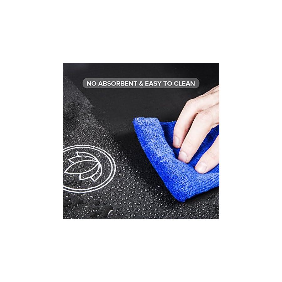 LEVOIT Women's LYS MS1 Levoit Yoga Mat, 1/2 Inch Extra Thick for Workout Fitness Pilates and Floor Exercises, High Density Anti Tear Non Slip NBR Foam Mat (Black), Medium
