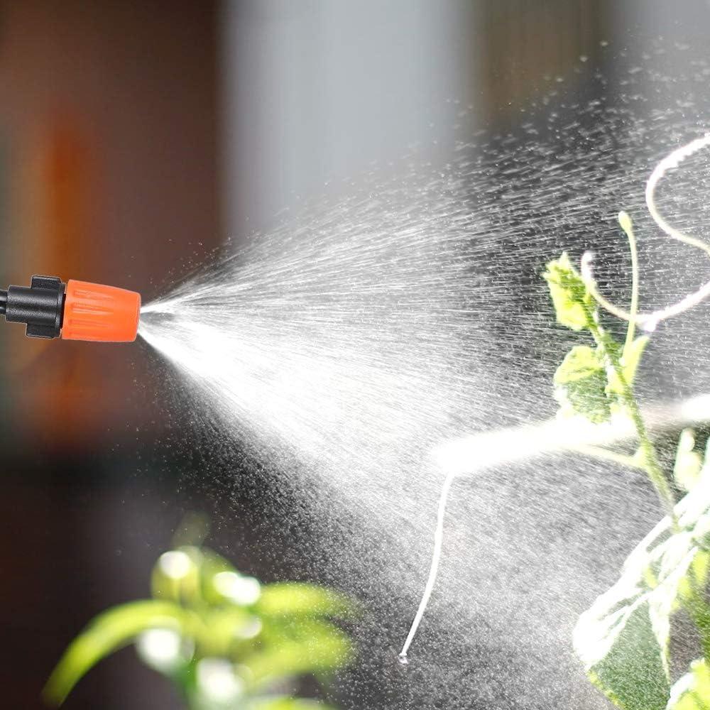 Walmeck 20m DIY Saving Water Automatic Micro Drip Irrigation System Garden  Greenhouse Irrigation Spray Self Watering Kits Burettes Glassware & Labware