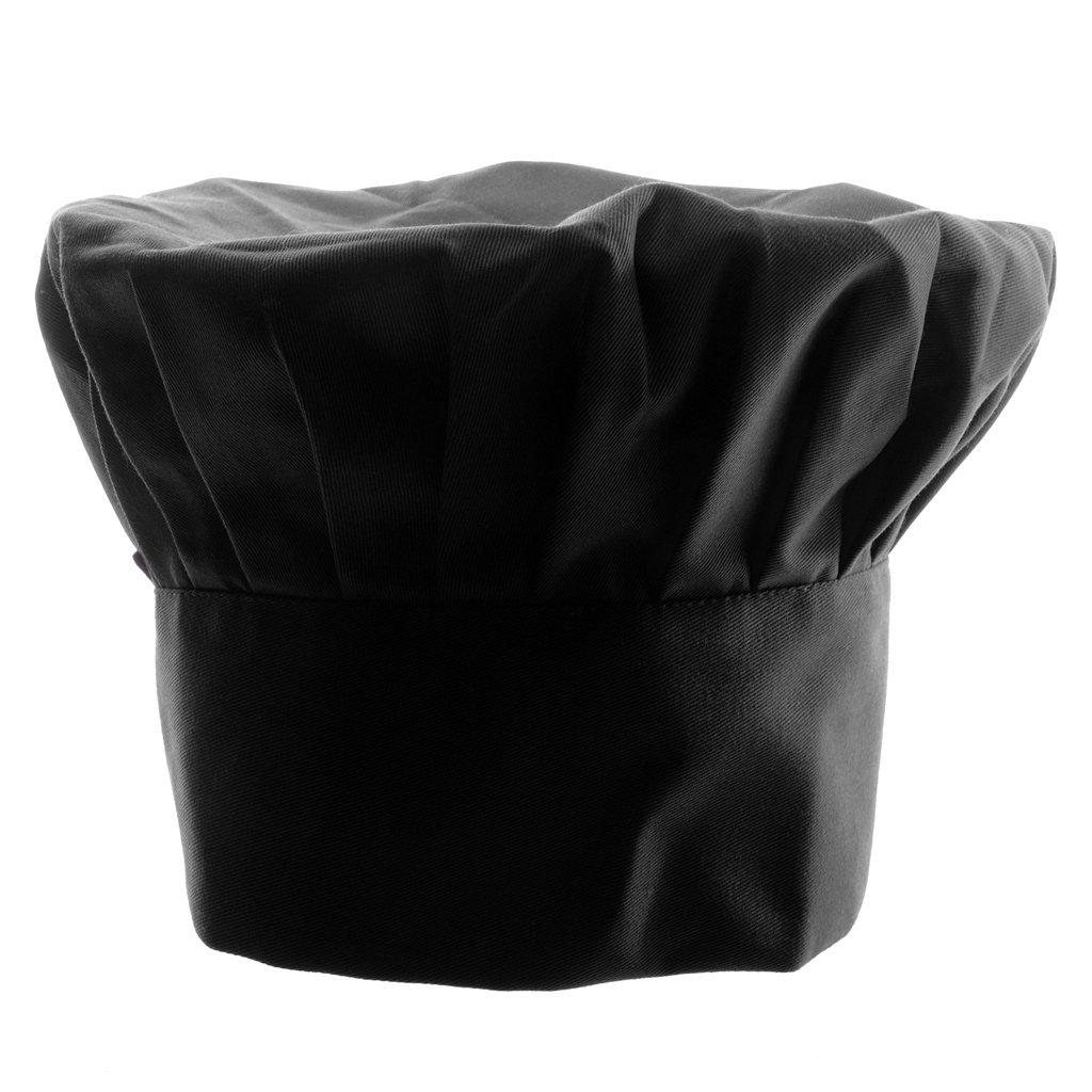 Prettyia Elastico Cottura Tappo Costume Cappello da Ristorazione Hat per Chef Cuoco Taglia unica