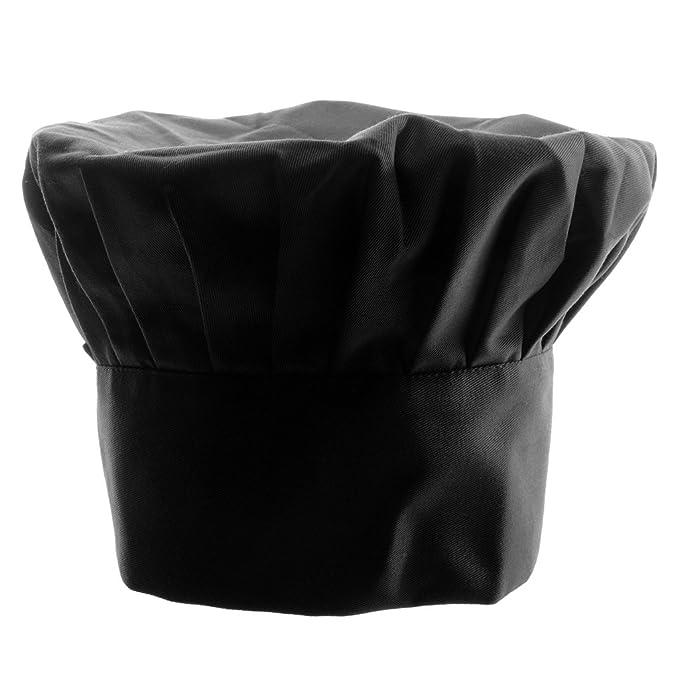 Sombrero De Cocinero Chef Adulto Elástica Panadero Elástica Cocina Casquillo  Del Traje - negro d5bd2187eba