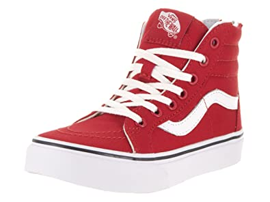 Vans Girl s SK8-Hi Zip Varsity Kids Skate Shoes (7 Big Kid M 987eeeb47