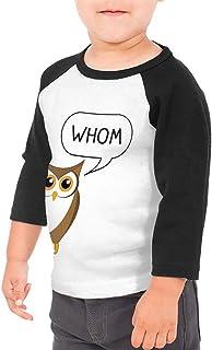 Kid's Toddler Owl Whom 3/4 Sleeve Raglan Tee Shirt For 2-6T
