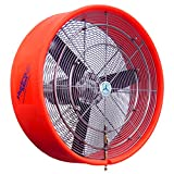 HydroMist HMI-30-8 30'' Fixed Extreme Portable Misting Fan, Orange, 8 Nozzles, 110V, 15 Amp