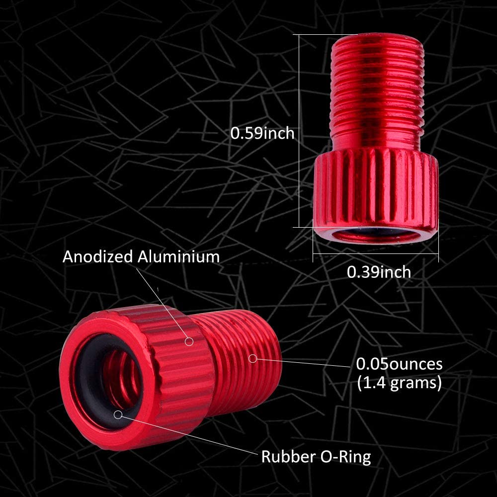 Mukum 36Pcs Presta Valve Adapter Brass Presta Valve Cap Bicycle Tire Valve Converter for Road Bike Pump Inflation Devices Adapter Accessories for Cycling Tire Inflate