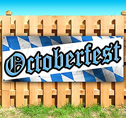 Octoberfest 13 oz Heavy Duty Vinyl Banner Sign with Metal Grommets, New, Store, Advertising, Flag, (Many Sizes Available) Tampa Printing