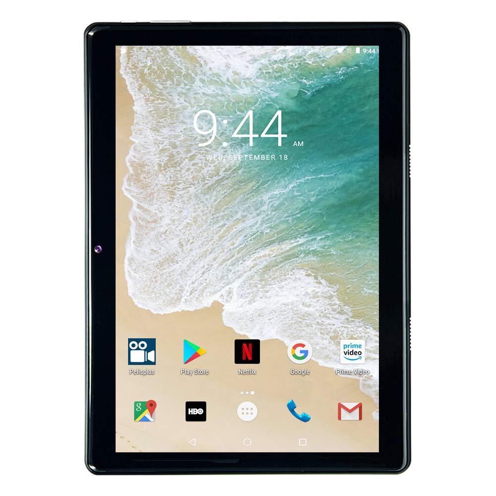 Tablet 10 Pulgadas WiFi 32GB de Memoria Interna, 2GB de RAM Dual SIM Quad Core Android 7.0, Bluetooth/GPS- Negro