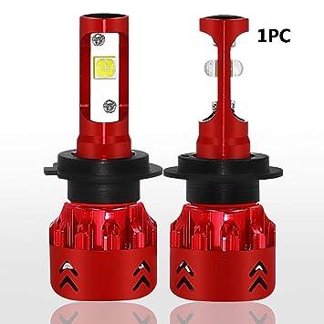 Bombillas Para Faros Led H7 Para Coche, Mini7 1Pc 80W 9600Lm 6000K Csp Bombillas Led Para Auto Resistente Ip68: Amazon.es: Coche y moto