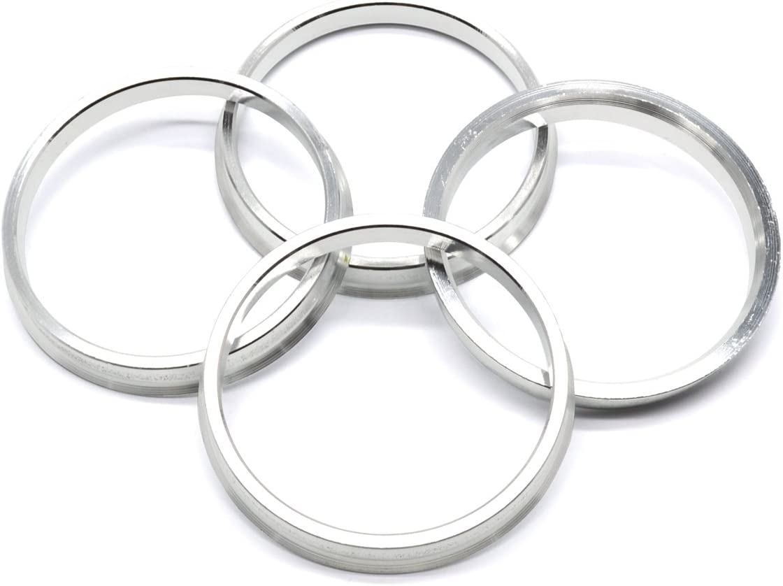 Pack of 4 GoldenSunny 73.1mm OD to 66.1mm ID Silver Aluminum Hub Centric Rings