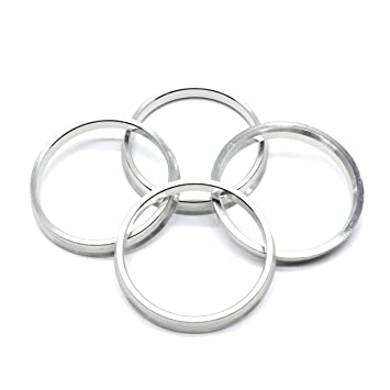73 1mm Od To 66 1mm Id Silver Aluminum Hub Centric Rings