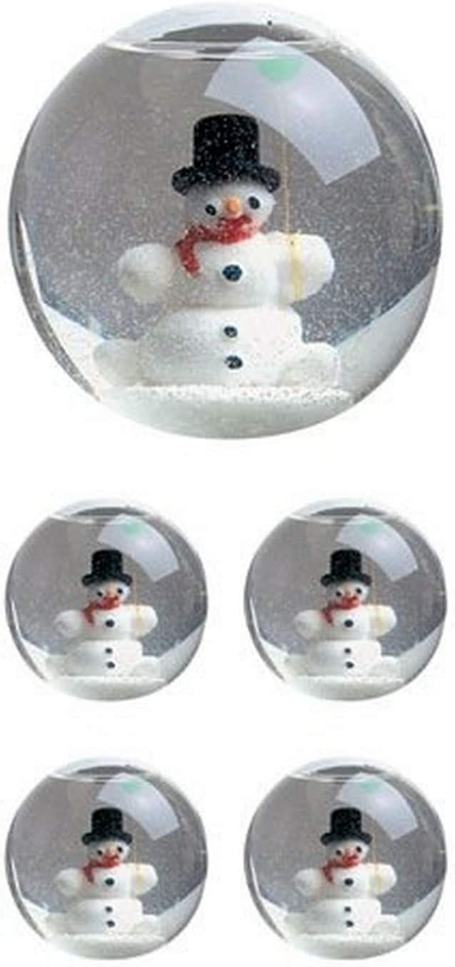 Paper House Productions ST-2204E Photo Real Stickypix Stickers 6-Pack 2-Inch by 4-Inch Snow Globe