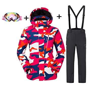 DUBAOBAO Ropa de esquí para Mujer con cinturón de Nieve ...