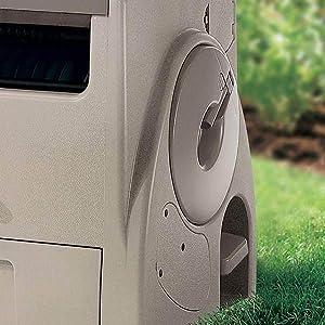 Suncast 100-Ft. Powerwind Automatic Rewind Hose Reel, Light Taupe (2 Pack)