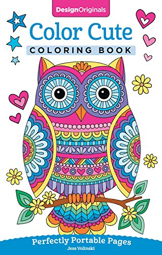 Design Stationery (Color Cute Coloring Book: Perfectly Portable Pages (On-the-Go Coloring Book) (Design Originals) Extra-Thick High-Quality Perforated Pages; Convenient 5x8 Size is Perfect to Take Along Wherever You Go)