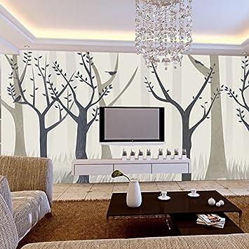 Einfache Und Moderne Gemälde Von Bäumen Urban Style Lounge Tapete  Wohnzimmer Schlafzimmer Studie Non Woven