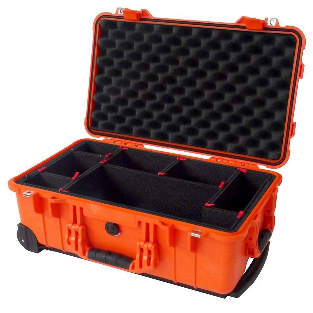 オレンジPelican 1510ケース。Comes with trekpakディバイダー& TSAロック。 B01F0TZ2ZS