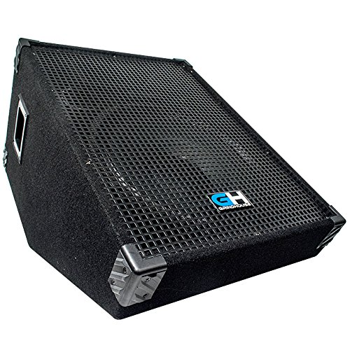 - Grindhouse Speakers - GH15M - 15 Inch Passive Wedge Floor / Stage Monitor  400 Watts RMS - PA/DJ Stage, Studio, Live Sound 10 Inch Monitor