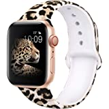 EXCHAR Compatible with Apple Watch Band 44mm Series 4 42mm Series 3/2/1 Fadeless Pattern Printed Floral Bands Silicone…