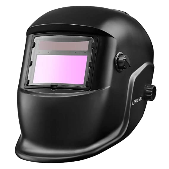 URCERI Welding Helmet Auto Darkening, Welding Mask with Large Field of View Features 4 Arc Sensors for Indoor Outdoor Welding Supports Grinding Feature for ...