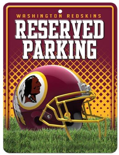 NFL Washington Redskins 8-Inch by 11-Inch Metal Parking Sign (Washington Redskins Parking Sign)