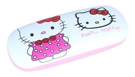 """be633d5dc8 'Super Étui à lunettes pour enfants""""Hello Kitty dans une petite robe  avec charnière"""