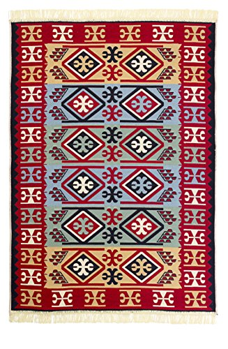 Reversible Dowry Chest Turkish Kilim Rug by Copper & Safir