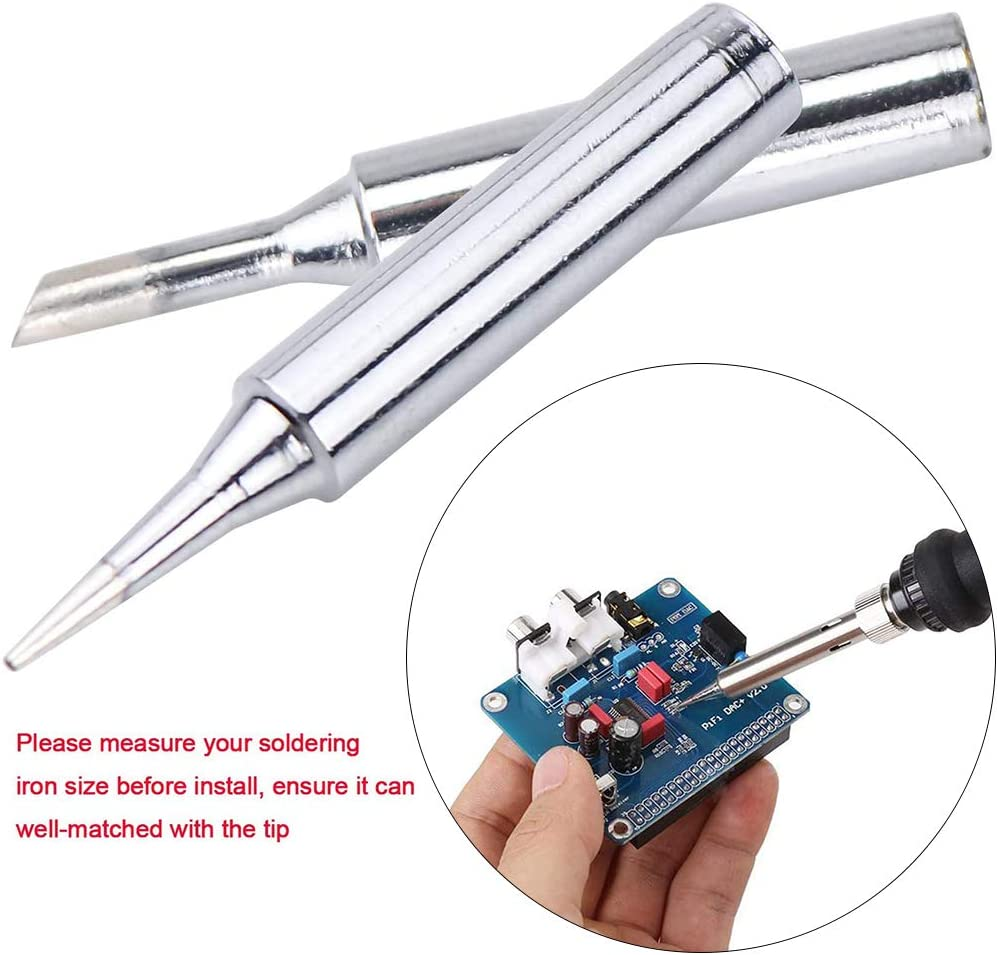 Herramientas para soldar puntas de soldador Aparatos el/éctricos Resistencia a la corrosi/ón Antioxidaci/ón para soldador digital LCD TS100