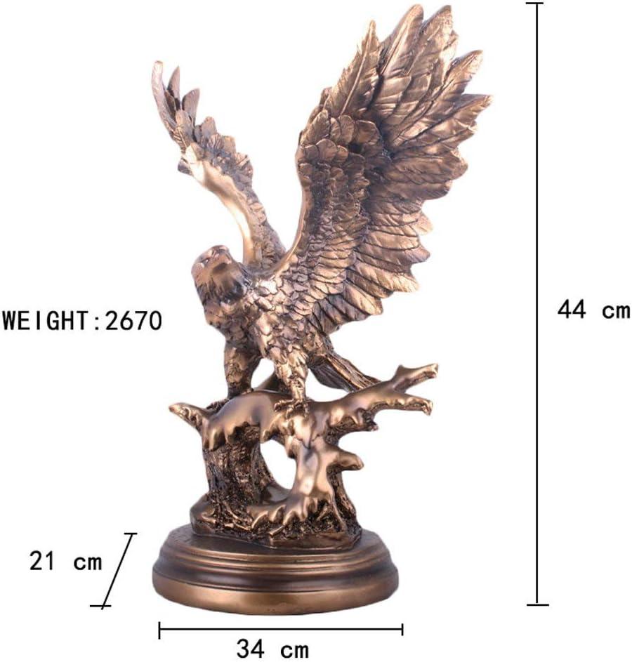 Artesan/ías en Resina de la Sala de Estar Escultura de Animal DERATON Estatua del /águila Dormitorio Estudio Figuras Decorativas 34 x 21 x 44 cm Apto para Sala de Estar Regalo