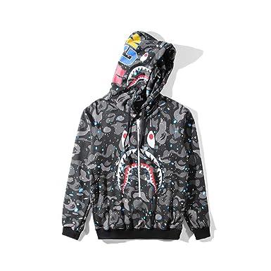 08d0b5b1 Amazon.com: A Bathing Ape Camo Bape Zip Shark Head Camouflage Hoodie  Luminous Jacket Coat: Clothing