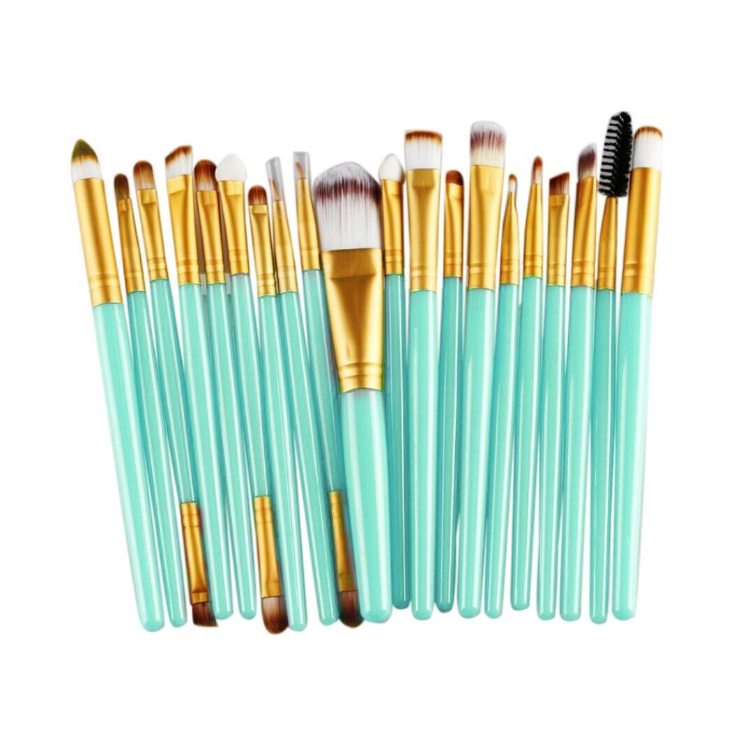 CINIDY 20 pcs Makeup Brush Set tools Make-up Toiletry Kit Wool Make Up Brush Set (Gold)
