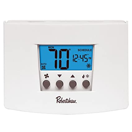 robertshaw rs4110 heat pump/single stage 1 heat/1 cool digital  non-programmable thermostat - nonprogrammable household thermostats -  amazon com