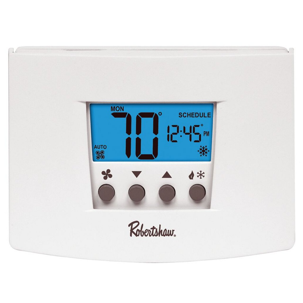 Best Rated In Home Nonprogrammable Thermostats Helpful Customer Oil Furnace Thermostat Wiring Diagram Robertshaw Rs4110 Heat Pump Single Stage 1 Cool Digital Non Programmable