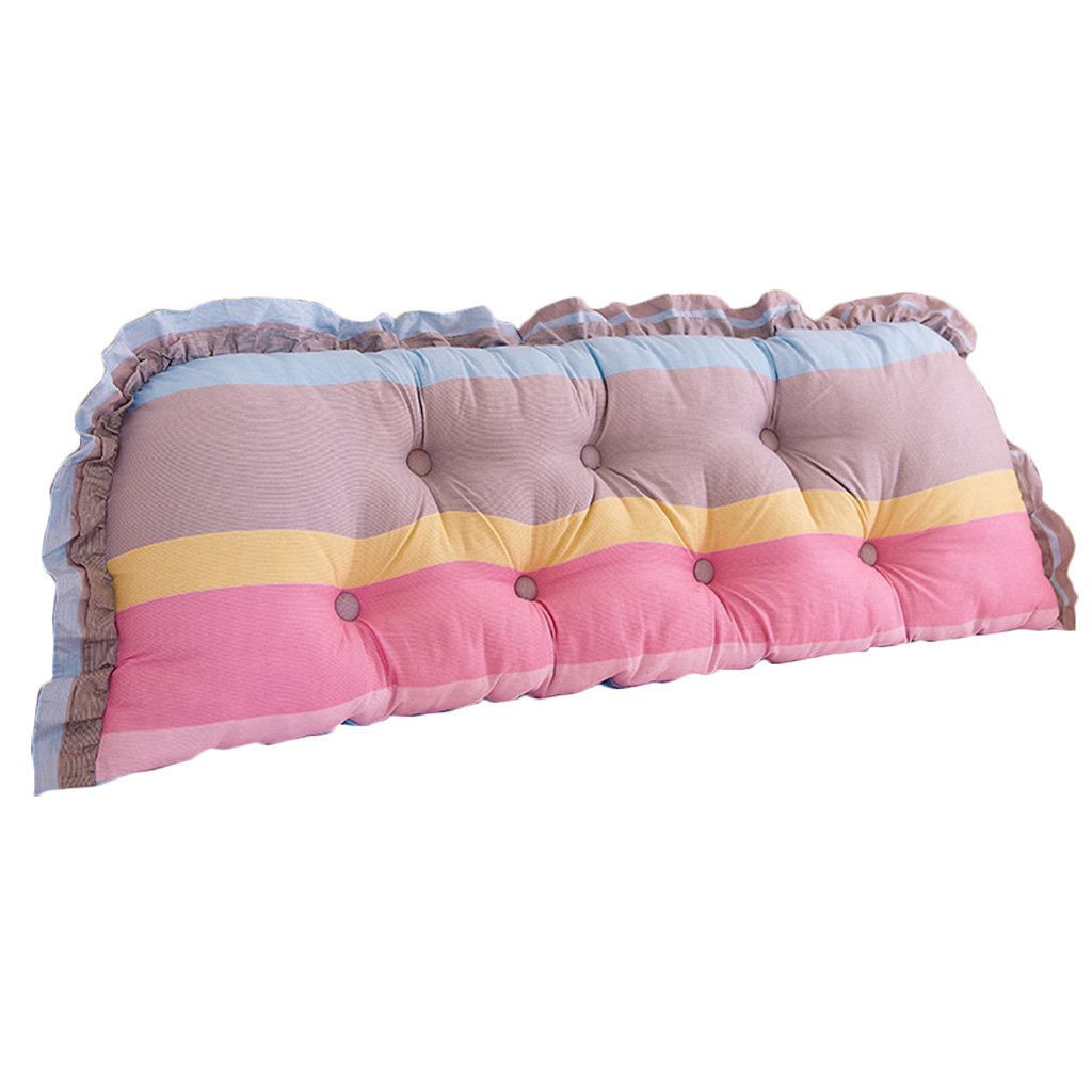 Lumbar Pillows Bed Pillows Positioners Cushion Living Room Sofa Waist Pillow Double Bedding Soft Bag Large Backrest Washable Linen Bedside Cushion Bed Headrest Tatami