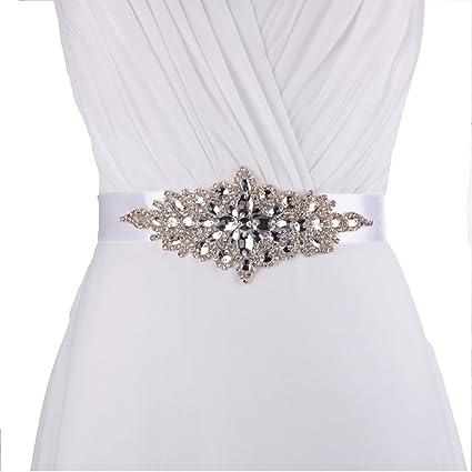 queendream insignias para fiesta de accesorios para vestido de guillotina para Prom noche trenzado cinturón color