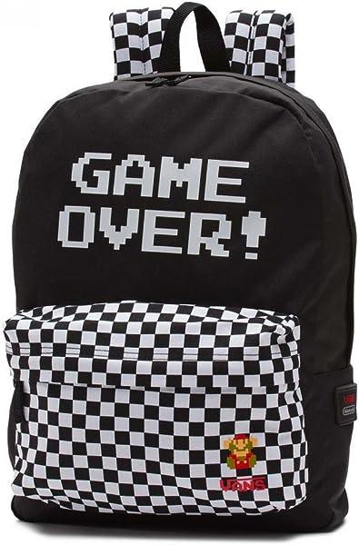Vans - Nintendo, Bolso de Mochila Mujer, Negro (Game Over), 43x32x12