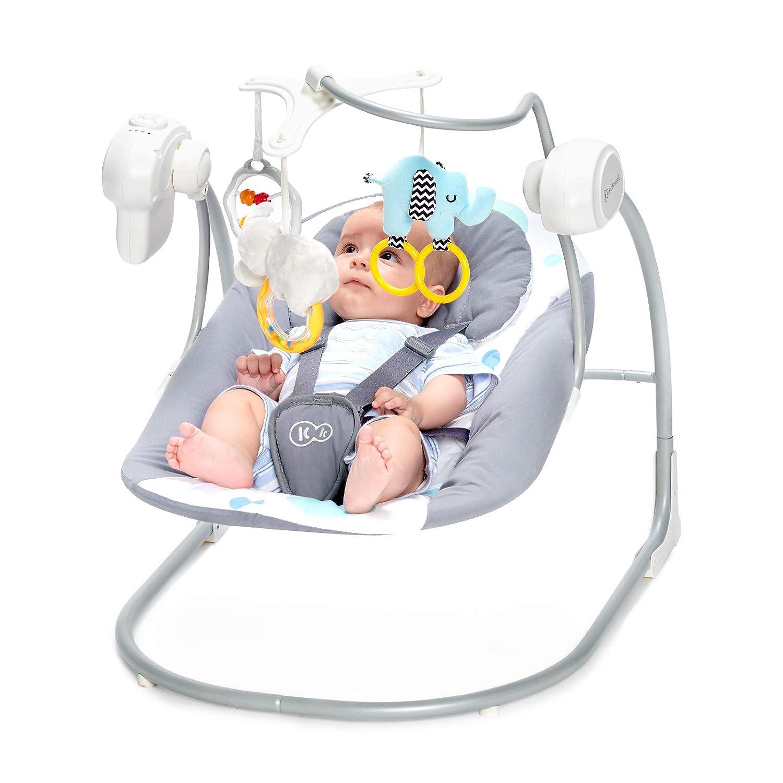 Rosa Babyschaukel Schaukelwippe mit Vibration Spielbogen Klappbar Kinderkraft Babywippe MINKY Wippe von Geburt Spielzeug und Moskitonetz im Set enthalten 8 Melodien